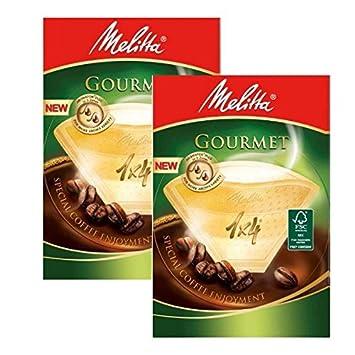 2 cajas de Melitta tamaño 1 x 4 filtros de café Gourmet, 80 unidades: Amazon.es: Hogar