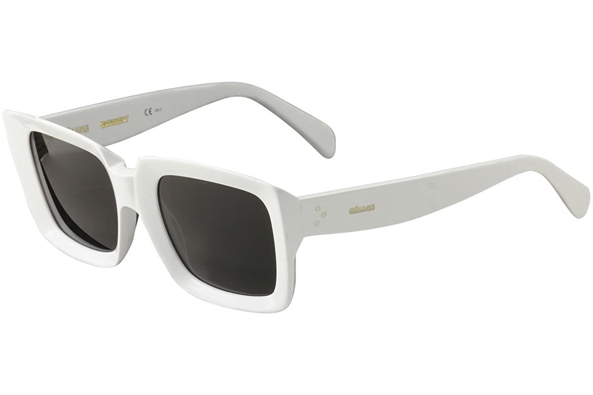 d5c37c8e505 Sunglasses Celine Cl 41449  S 0VK6 White IR gray blue lens at Amazon Men s  Clothing store