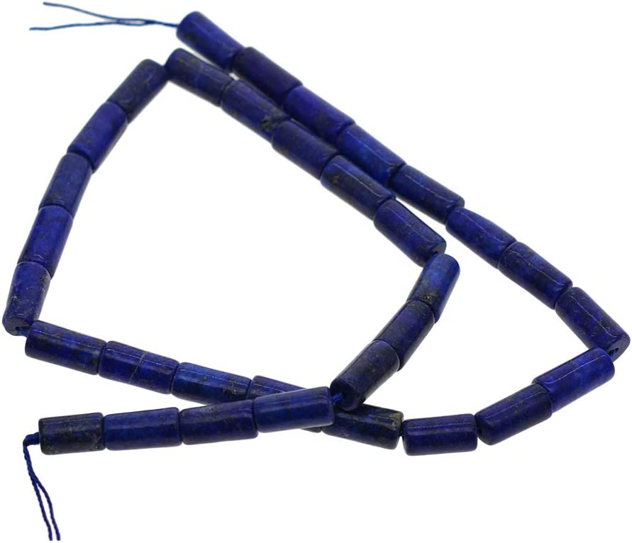 Hellery 1 Cadena De Lapislázuli Cuentas De Tubo De ágata para Collar De Joyería Manualidades De Bricolaje