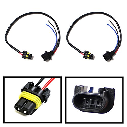 Hi Lo Cord (iJDMTOY (2) 9006-To-H13 Conversion Wires Adapters/Power Cords For Headlight Retrofit or HID Conversion Kit Installation)