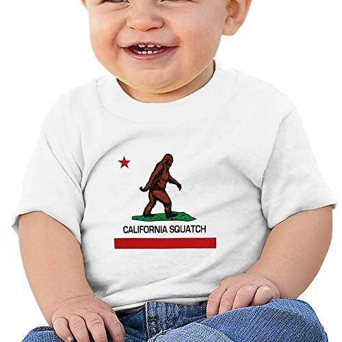 ALIZISHOP1 Custom Unsex Baby's California Squatch Cotton Short Sleeve T Shirts (Minecraft Halloween Creations)