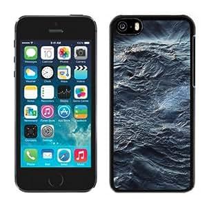 NEW Unique Custom Designed iPhone 5C Phone Case With Sea Waves Texture_Black Phone Case
