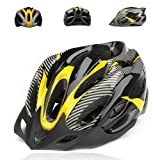 Worldshops JSZ EPS Outdoor MTB Road Bicycle Cycling Helmet with 19 Vents Color Yellow