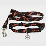 San Francisco Giants Pet Set Dog Leash Collar ID Tag MEDIUM