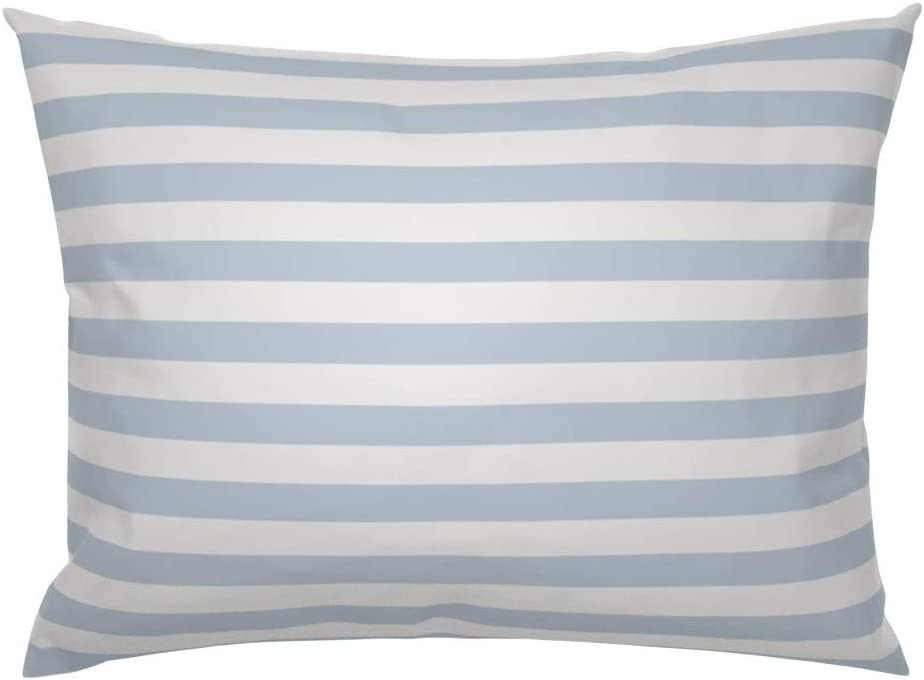 Watercolor Lines Geo Modern Cotton Sateen Pillow Sham Bedding by Spoonflower Striped Pillow Sham Multi Color Stripe by haleeholland