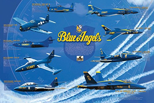 EuroGraphics History of the Blue Angels Poster 24 x 36