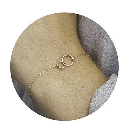Fettero Hammered Layering Necklace Bracelet product image