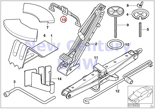 (BMW Genuine Car Tool/Lifting Jack Misc. Body Parts/Floor Pan Rear Tension Strap X5 3.0i X5 4.4i X5 4.6is X5 4.8is)