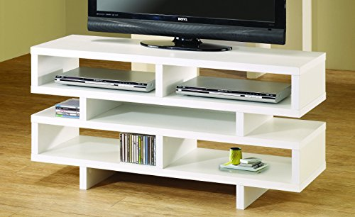Coaster Home Furnishings 700721 Contemporary TV Console, White by Coaster Home Furnishings (Image #1)