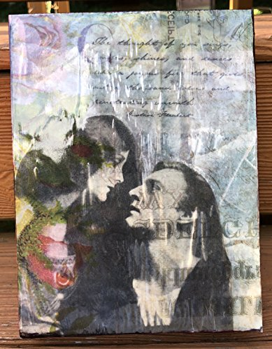 Analog Mixed Media Collage - Passionately Yours by Cipher Art
