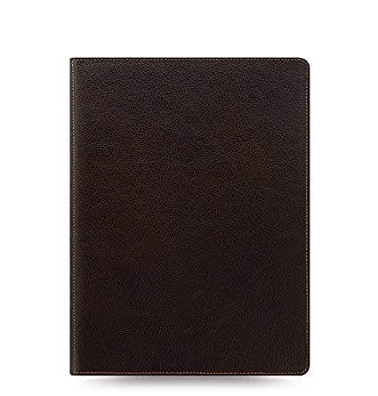 Filofax Heritage Buffalo Leather Organizer Agenda Calendar with DiLoro Jot Pad Refills (A5 Compact, Brown 2019, 026025)