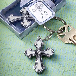 Cross Design Keychain Favors count