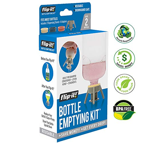Flip-It FL4X2HBB Bottle Emptying Kit for Bath and Beauty, 2-Pack