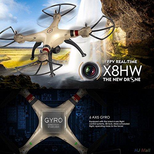 Cewaal X8HW Wifi FPV Drone With 2.0MP HD Camera + SD Card,One Key to Return; Headless Mode,3D Flips,2000mAh Battery Long by Cewaal (Image #7)