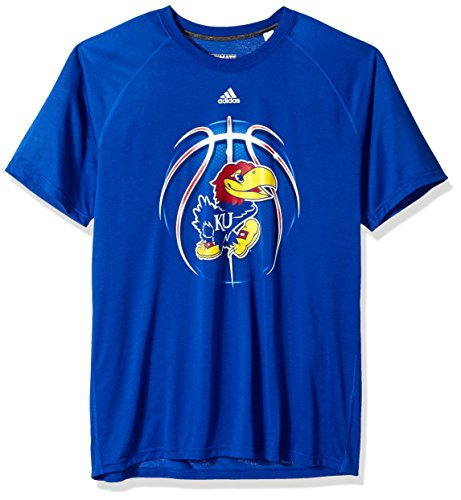 (adidas NCAA Kansas Jayhawks Mens Light Ball Ultimate S/Teelight Ball Ultimate S/Tee, Collegiate Royal, X-Large)