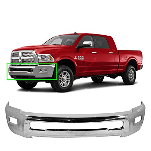 (MBI AUTO - Chrome, Steel Front Bumper Face Bar Fascia for 2010-2018 RAM 2500 3500 Pickup 10-16, CH1002390)