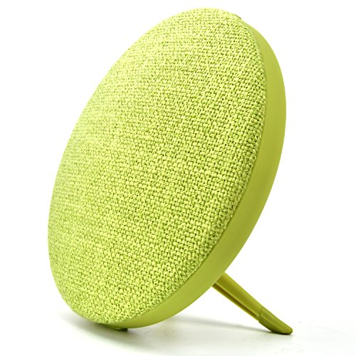 Fabric Bluetooth Speaker, Portable Wireless Indoor Outdoor Speakers Detachable Holder Built-in Mic Support AUX Mode SD/TF Card PC iPhone Cell Phone (Green) by Zakio