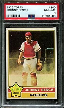 Johnny Bench Graded PSA 8 (Baseball Card) 1976 Topps   [Base] #