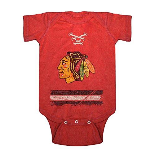 NHL Chicago Blackhawks Beeler Vintage Infant Jersey Creeper, 18-Months, Red