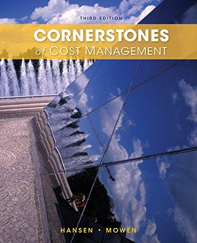 Cornerstones of Cost Management, Loose-leaf Version