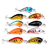 Wingbind1 9PCS ABS Top Quality Fishing Tackle Classic Proberos Style Lures Crankbaits Treble Hooks Baits 4.5CM 40G