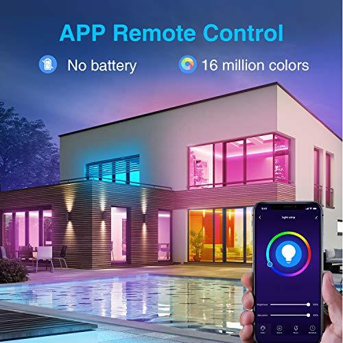 NiteBird Smart WiFi LED Strip Lights 16.4ft Works with Alexa Google Home, App and Voice Control, Music Sync, 16 Million…