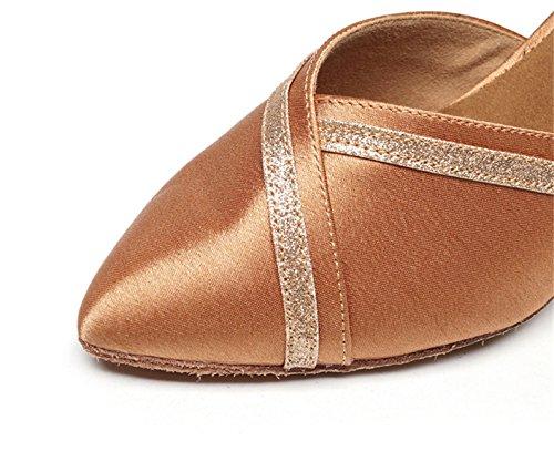 Mujer UK5 Sandalias Zapatos Tango 5cm Our38 Samba Salsa De Altos Jazz Para Moderno heeled7 Latino Baile B JSHOE Chacha Tacones EU37 x4nXqUgBX