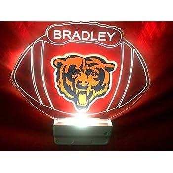 Amazon.com: Chicago Bears NFL Light Up Lámpara De Luz ...