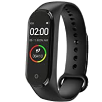 VOZC M4 Smart Band Fitness Tracker Watch Heart Rate with Activity Tracker Waterproof Body Functions Like Steps Counter, Calorie Counter, Blood Pressure, Heart Rate Monitor OLED Touchscreen