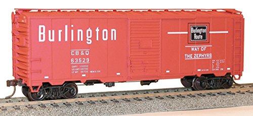 Accurail 35109 HO Scale KIT 40 FT AAR Single Door Boxcar - Burlington (Boxcar Door Single Aar)