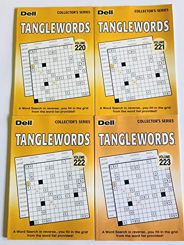 Volumes 220, 221, 222, and 223 of Tanglewords from Penny Press Selected Puzzle Series (Letterboxes) ()