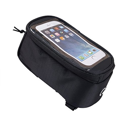 WEANAS Bike Bicycle Handlebar Front Top Tube Bag Pack Frame Pannier Rack X Large Touch Screen Waterproof for Iphone 7 7 Plus Samsung Mobile Phone