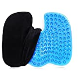 Coccyx Seat Cushion Cool Gel Seat Cushion Contour Pillow Car Pillow Memory Foam Orthopedic Tailbone Pillow for Sciatica/Back Tailbone Pain Cool Gel-Enhanced Coccyx Office Chair