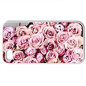 With Love - Case Cover for iPhone 4 and 4s (Flowers Series, Watercolor style, White)