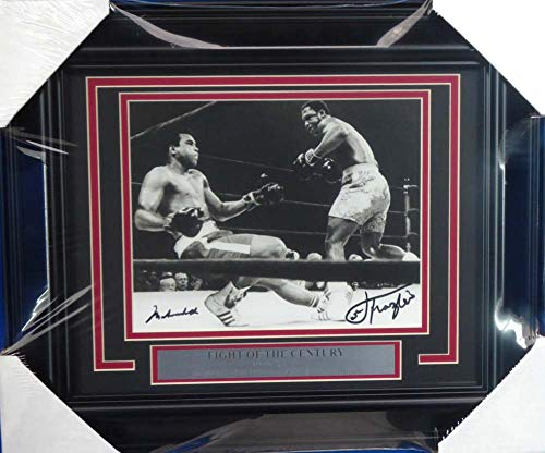 - Muhammad Ali & Joe Frazier Autographed Framed 8x10 Photo Beckett BAS #A20756