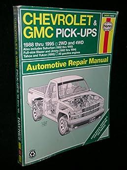 chevrolet gmc pick ups 1988 thru 1995 2 wd 4wd suburban 1992 rh amazon com 1994 GMC Suburban Black 1994 GMC Suburban Interior