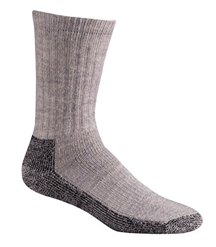 FoxRiver Men's Trailhead Crew, Grey Heather, Large - Fox River Wool Socks