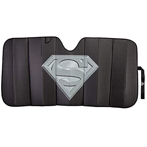 Plasticolor 003883R01 Superman DC Comics Logo Black Matte Finish Car Truck or SUV Front Windshield -