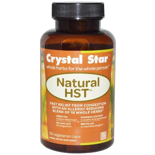 Crystal Star, Natural HST, 60 Veggie Caps by Crystal Star