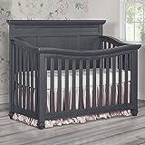 Evolur Madison 5 1 Flat Top Convertible Crib, Weathered Grey