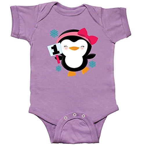 inktastic 1st Birthday Penguin Infant Creeper 12 Months (Penguin Infant Creeper)