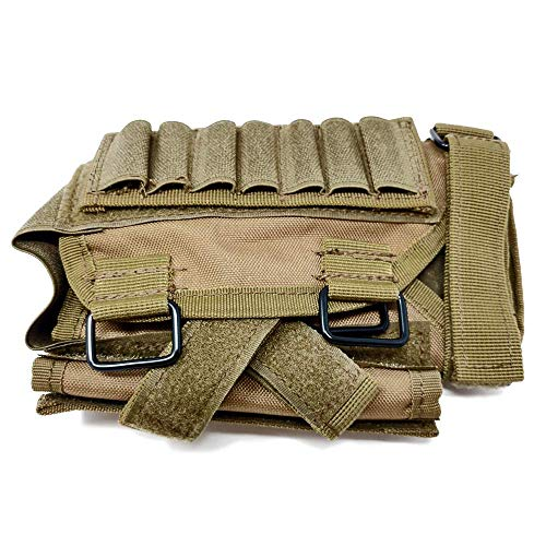 BATTLBOX Adjustable Rifle Cheek Rest with Ammo and Admin Pouch
