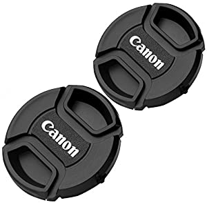 2 PCS 58mm Lens Cap For Canon Replaces E-58 II by Generic