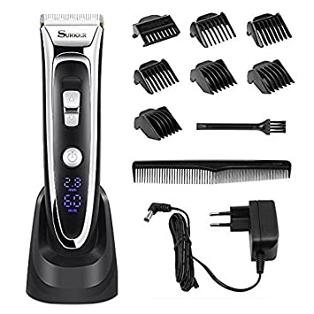 Amazon Com Hair Clippers For Men Professional Electric Led Display