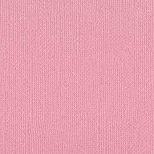 (Bazzill Petunia 12x12 Textured Cardstock | 80 lb Mid-Tone Pink Scrapbook Paper | Premium Card Making and Paper Crafting Supplies | 25 Sheets per Pack)