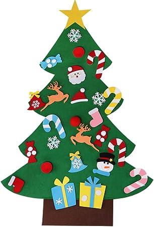 Majome Pièces De Sapin De Noël Feutre Diy Christmas Treeornements De Paillettes Détachables Réutilisable Et Facile à Suspendre Et à Décorer Pour