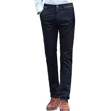 Zhuhaitf Mens Wear-Resistant Elastic Casual Pants Slim Fit Trousers Sweatpants