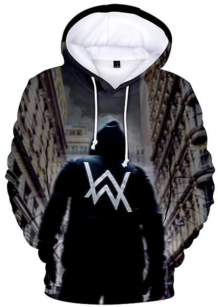 OLIPHEE Sudaderas con Capucha Impresión Digital psicodélico de Alan Walker para Hombre: Amazon.es: Ropa y accesorios