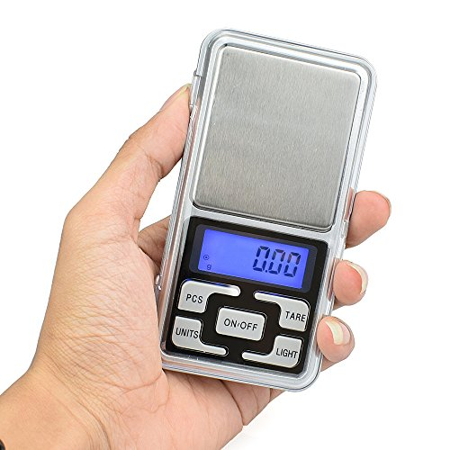 High Accuracy Mini Electronic Digital Pocket Scale Jewelry Diamond Gold Coin Calibration Weighing Balance Portable 500G/0.01G Counting Function Blue LCD by Simerst (Image #1)