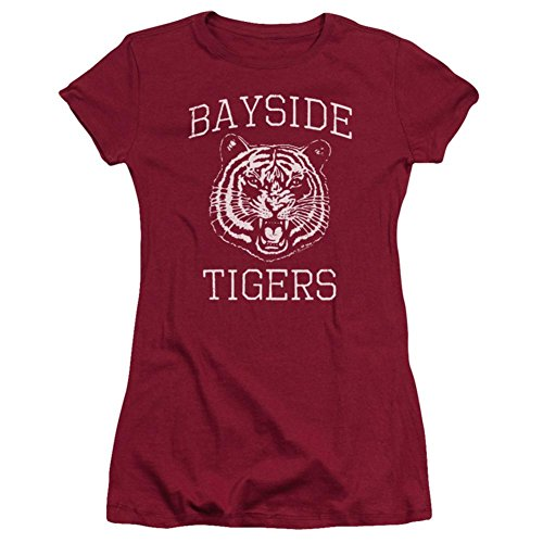 - Saved By The Belln Sitcom Series Bayside Tigers Logo Juniors Sheer T Shirt